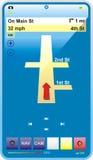 gps błękitny glansowany telefon Zdjęcie Stock