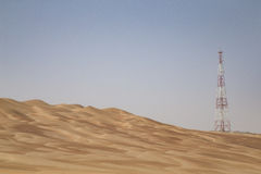 GPS base station in a desert Royalty Free Stock Photo