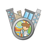 Travel and navigation design. Gps and boy of travel navigation and route theme Vector illustration Stock Image