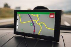 GPS car navigation device Royalty Free Stock Photo
