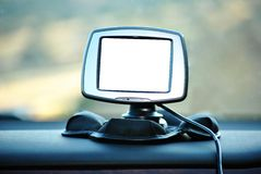 GPS Car Navigation System Royalty Free Stock Photos