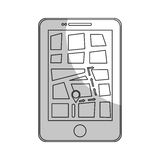 gps on cellphone screen icon image Royalty Free Stock Image