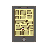 gps on cellphone screen icon image Royalty Free Stock Photo