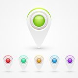 GPS Color Map Icons Royalty Free Stock Photography