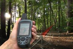 GPS com mapa fotografia de stock