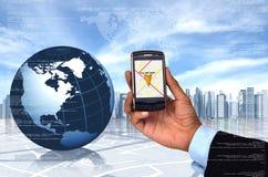 GPS com telefone esperto ilustração stock