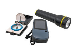 GPS, compass, Flashlight Royalty Free Stock Photo