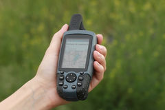 GPS con la correspondencia Foto de archivo libre de regalías