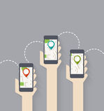 Gps connection Royalty Free Stock Image