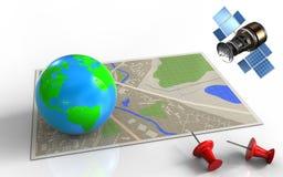 gps 3d por satélite Fotografía de archivo libre de regalías