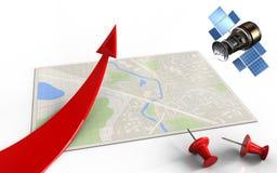 gps 3d Satelliten Lizenzfreies Stockbild