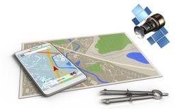 gps 3d Satelliten Lizenzfreie Stockbilder
