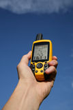 GPS Device. Handheld Global Positioning System Device stock images