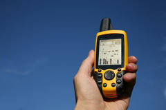 GPS Device. Handheld Global Positioning System Device royalty free stock photos