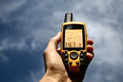 GPS Device. Handheld Global Positioning System Device stock photos