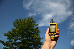 GPS Device. Handheld Global Positioning System Device royalty free stock photography