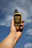 GPS Device. Handheld Global Positioning System Device stock photo