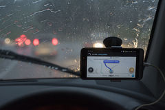 GPS Device on the car Royalty Free Stock Photography
