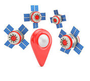 GPS die concept plaatsen Stock Fotografie