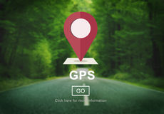 GPS Direction Electronic Guide Location Track Concept Stock Photography