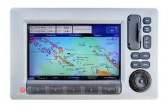 Gps do barco de navigação fotos de stock