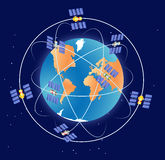 Gps do sistema de navegação mundial Fotografia de Stock