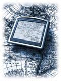 Gps e mapa ilustração stock