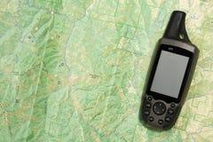 GPS e mapa Imagem de Stock Royalty Free