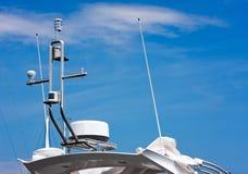 Gps ed antenne Immagine Stock