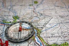 GPS en correspondencia vieja Imágenes de archivo libres de regalías