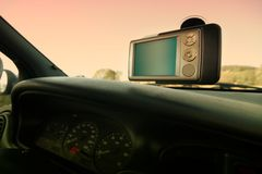 GPS - En el coche Fotografía de archivo