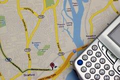 GPS en KAART Royalty-vrije Stock Foto's