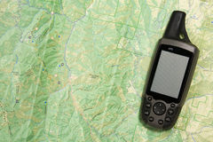 GPS en Kaart royalty-vrije stock afbeelding