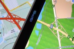 GPS et carte Photographie stock libre de droits