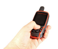 GPS Gerat Global Positioning mit Hand Royalty Free Stock Photo