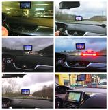 GPS or Global Positioning System car navigation device. Help and assistance with direction on road. Collage Royalty Free Stock Images