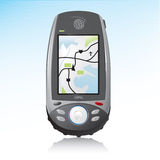 GPS Handheld Device Icon Stock Image