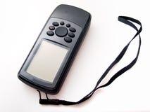 Gps handheld pretos isolados no branco Fotografia de Stock Royalty Free