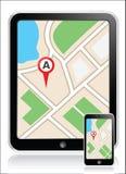 GPS-het lusje van de kaarttelefoon Royalty-vrije Stock Foto
