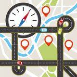 Gps icon design Royalty Free Stock Image