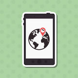 Gps icon design. Gps concept with icon design, vector illustration 10 eps graphic Stock Photography