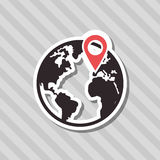 Gps icon design. Gps concept with icon design, vector illustration 10 eps graphic Royalty Free Stock Image