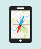 Gps icon design Royalty Free Stock Photography