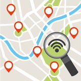 Gps icon design Stock Images