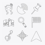 Gps icon design Royalty Free Stock Images