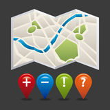 Gps icon design Stock Photography