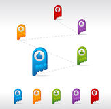 GPS icon set Royalty Free Stock Photography