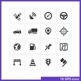 GPS icon set. Stock Photos
