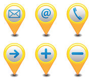 GPS Icons. Vector map navigation Illustration Stock Photo