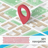 GPS illustration with icons Royalty Free Stock Photos